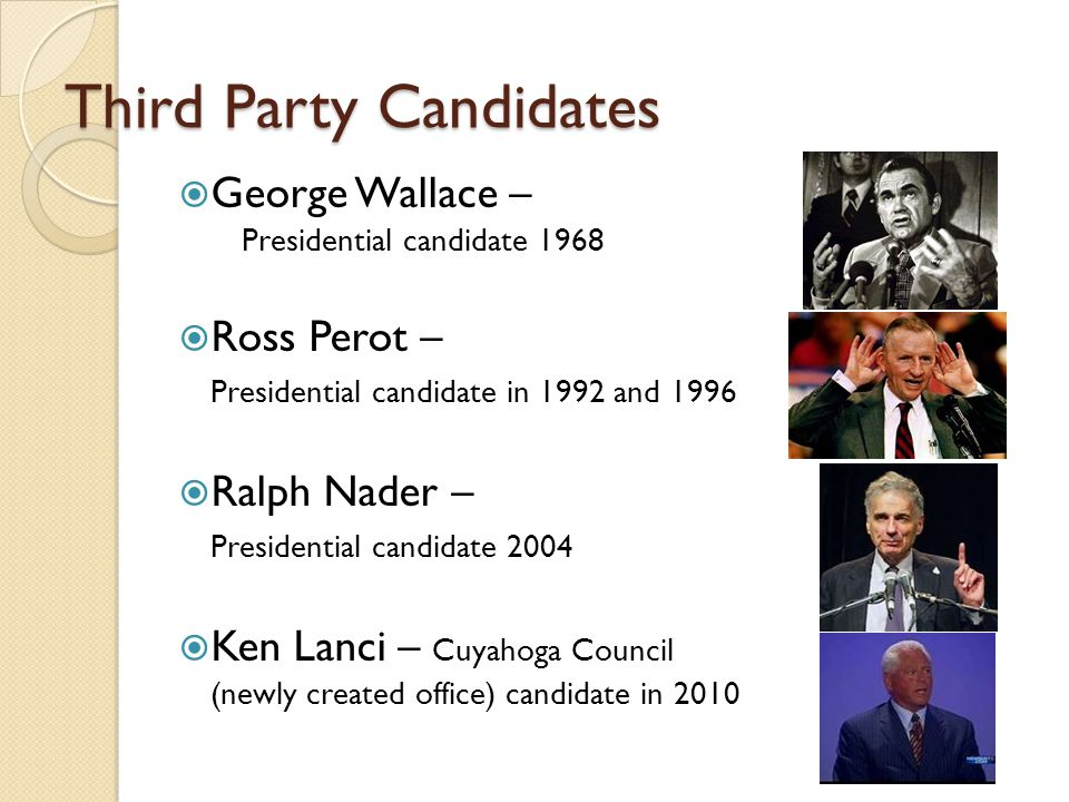 Third Party Candidates
