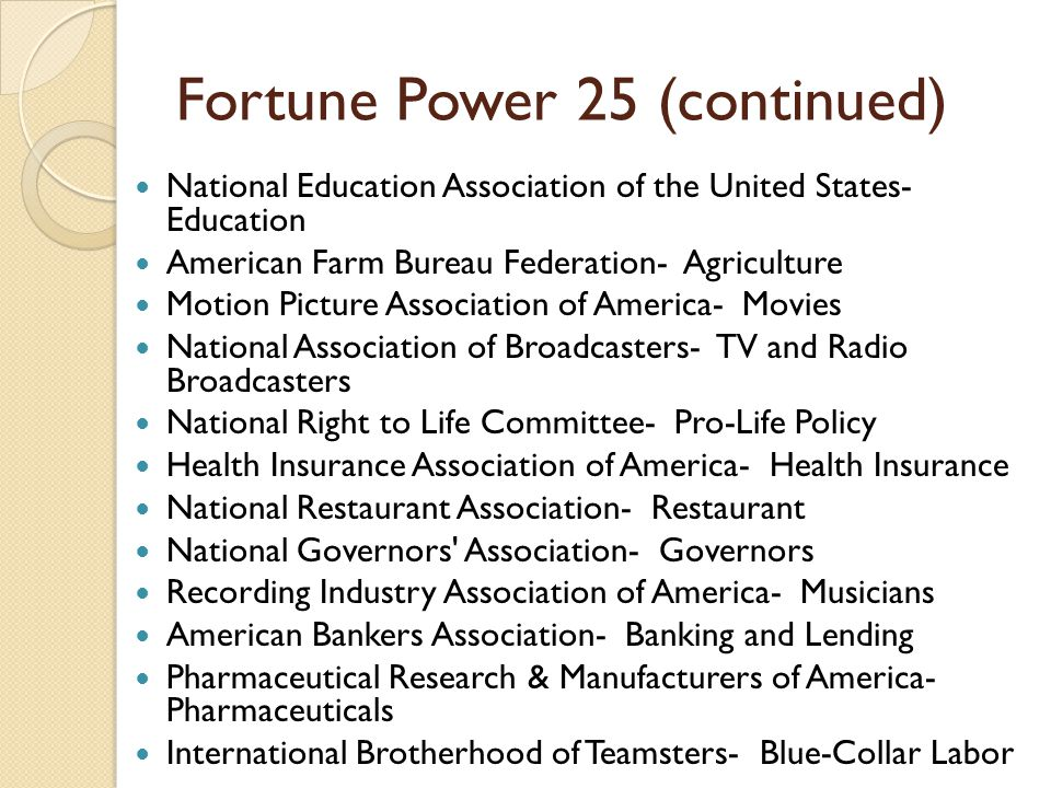 Fortune Power 25 (continued)