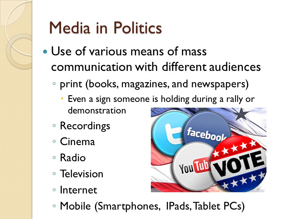 an analysis of the role of mass media in america politics Media and american politics  impact it has in politics are also addressed the mass media today  analysis of news events rarely lasts more than a minute at the .