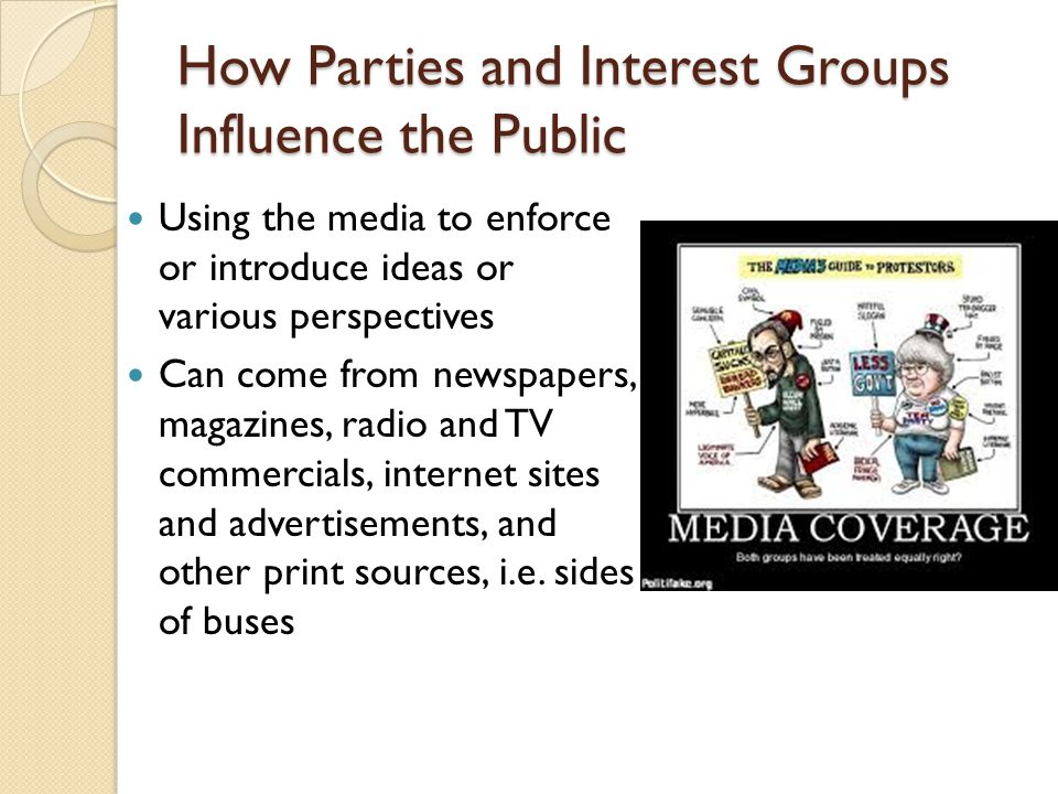 How Parties and Interest Groups Influence the Public