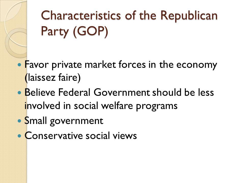 Characteristics of the Republican Party (GOP)