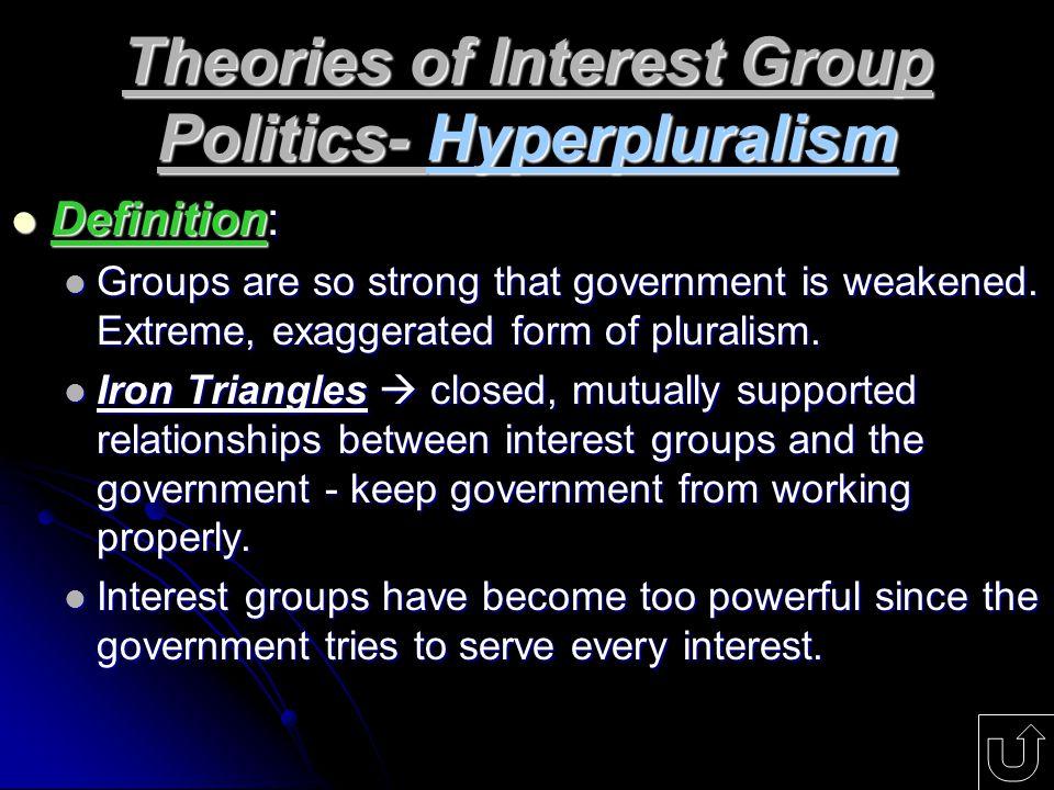 Theories of Interest Group Politics- Hyperpluralism