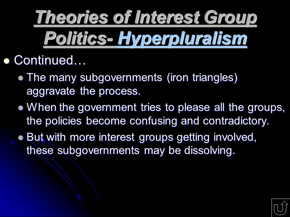 Theories of Interest Group Politics- Hyperpluralism