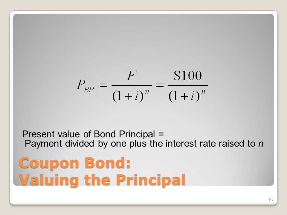 Coupon Bond: Valuing the Principal
