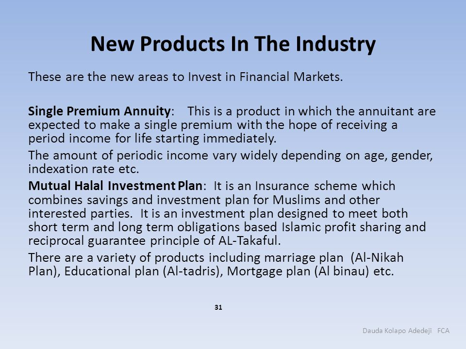 New Products In The Industry