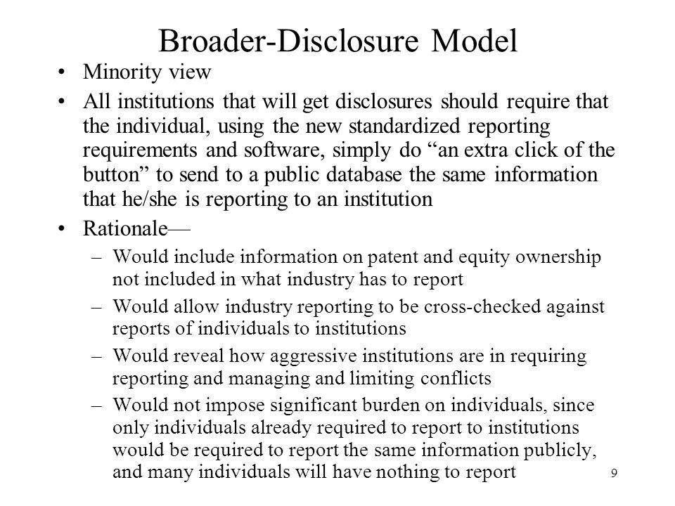 Broader-Disclosure Model