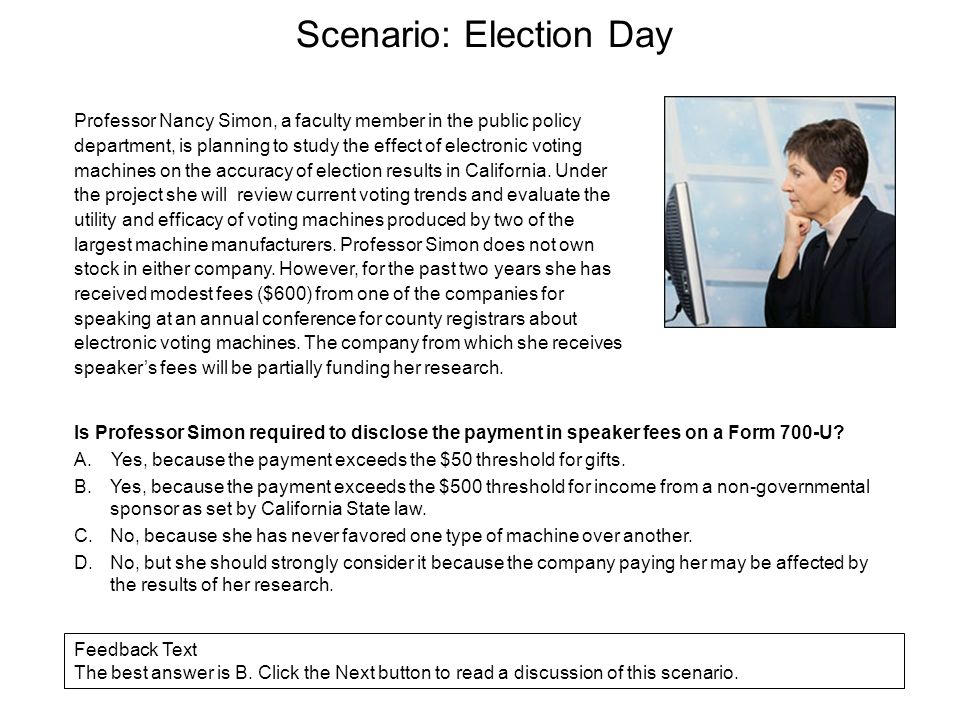 Scenario: Election Day