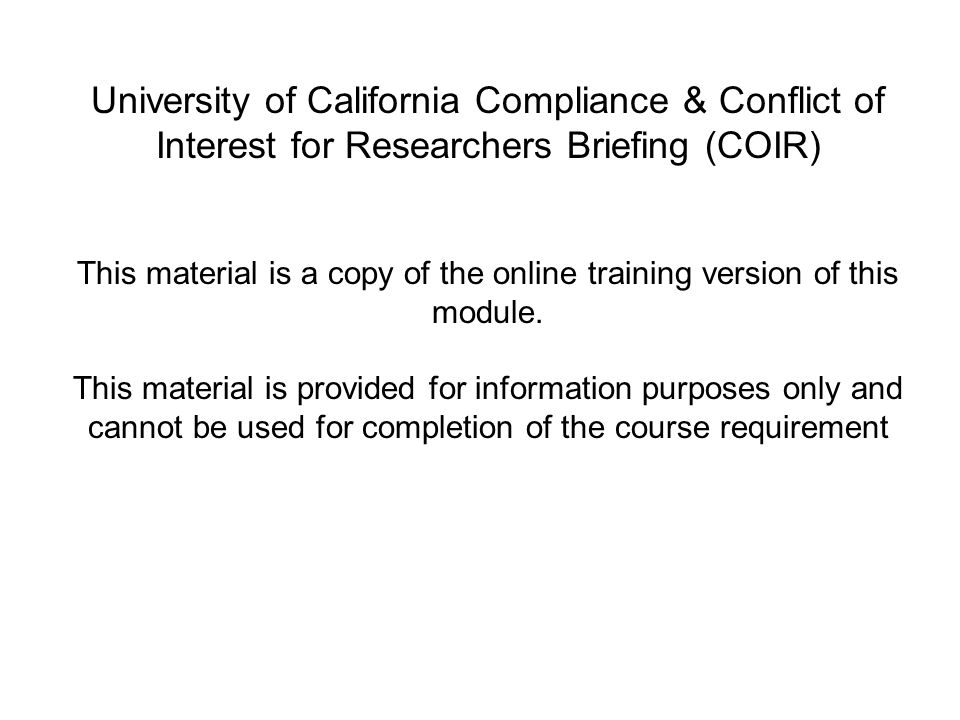 This material is a copy of the online training version of this module.
