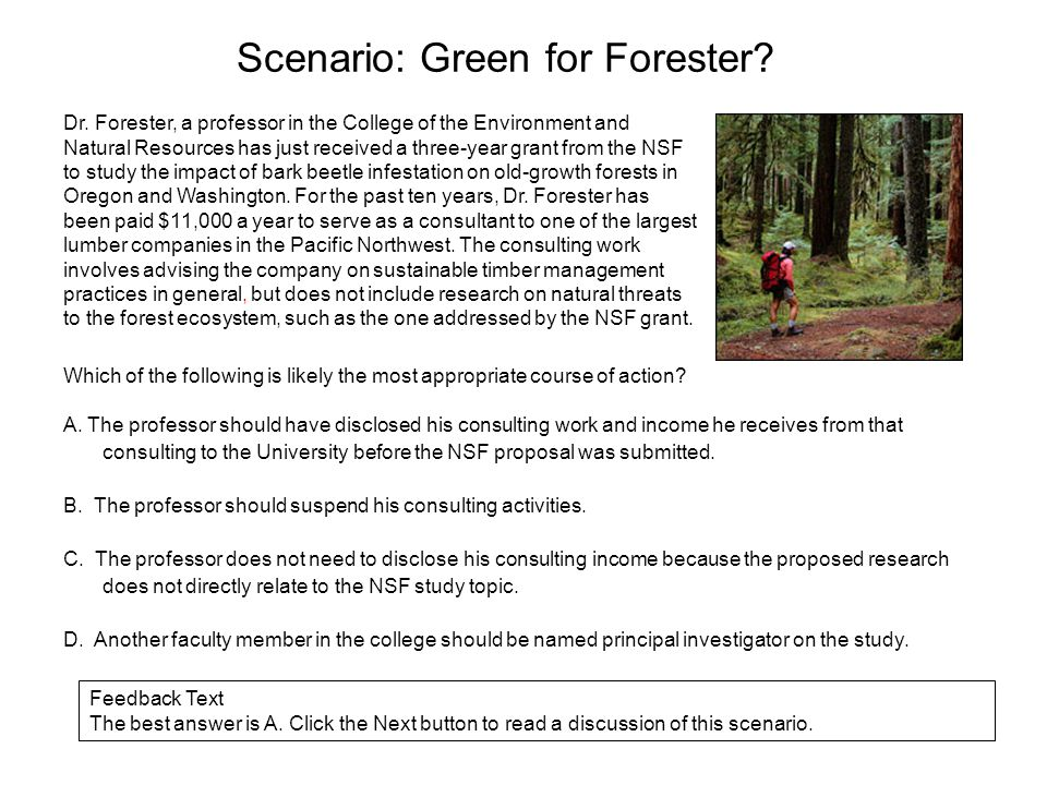 Scenario: Green for Forester