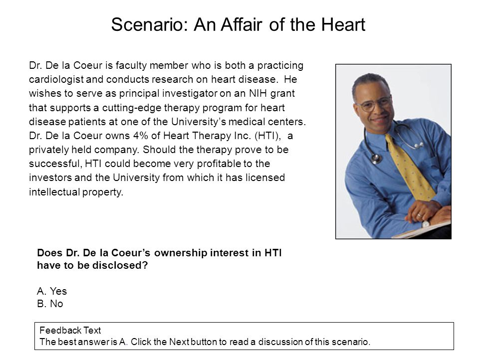 Scenario: An Affair of the Heart