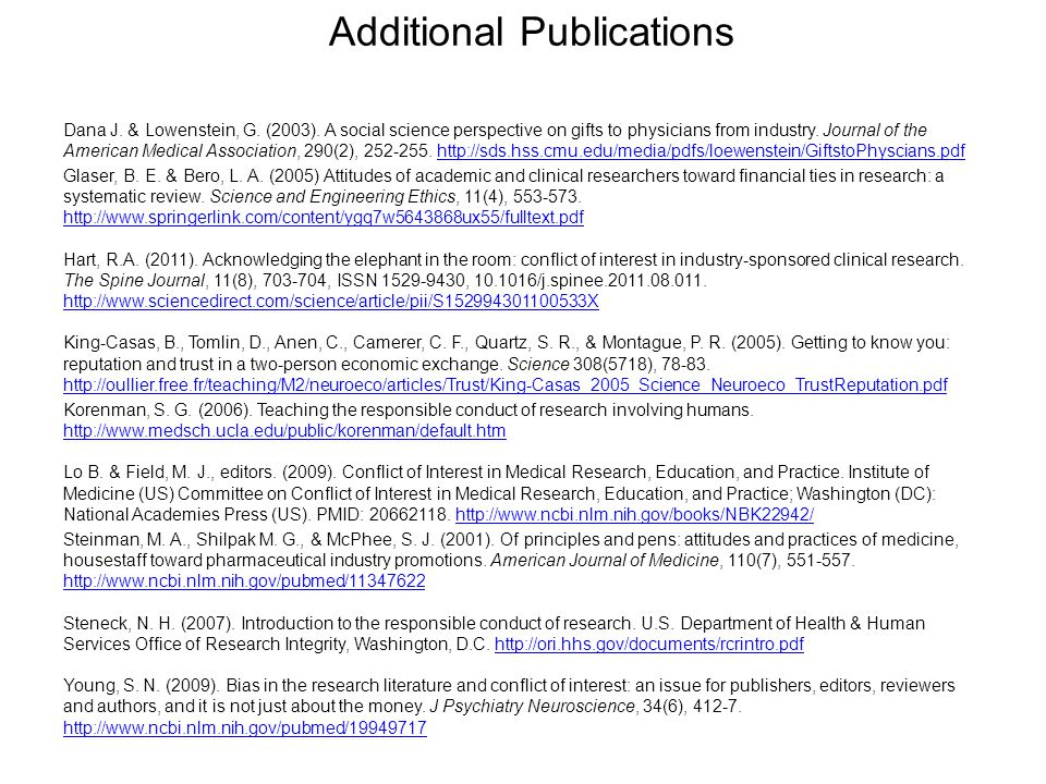 Additional Publications
