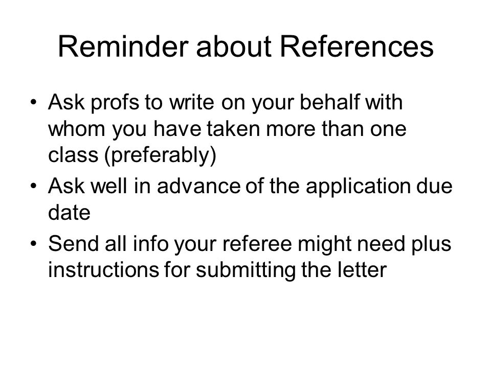 Reminder about References