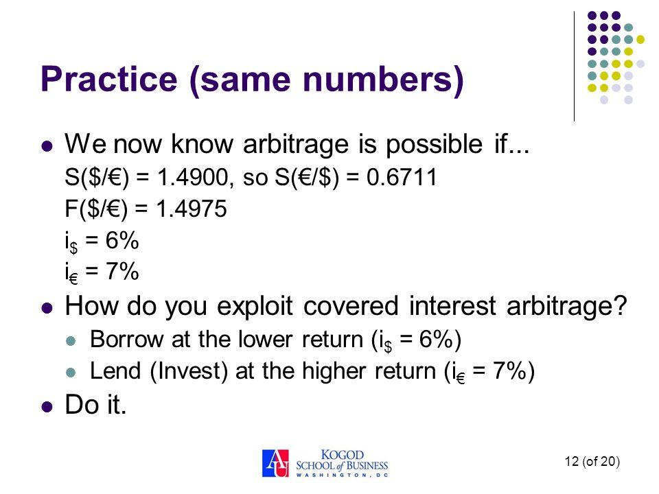 Practice (same numbers)