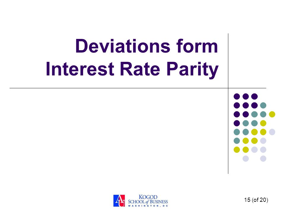 Deviations form Interest Rate Parity