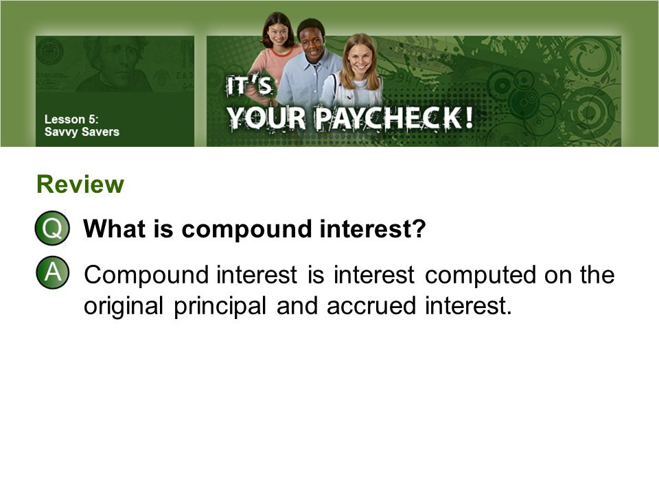 Review What is compound interest.