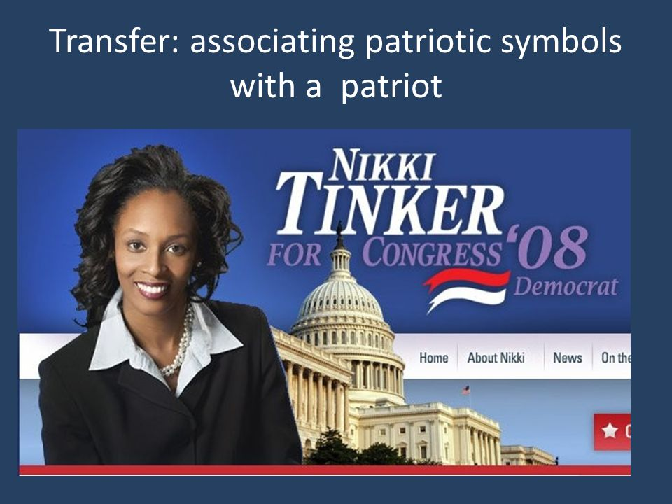 Transfer: associating patriotic symbols with a patriot