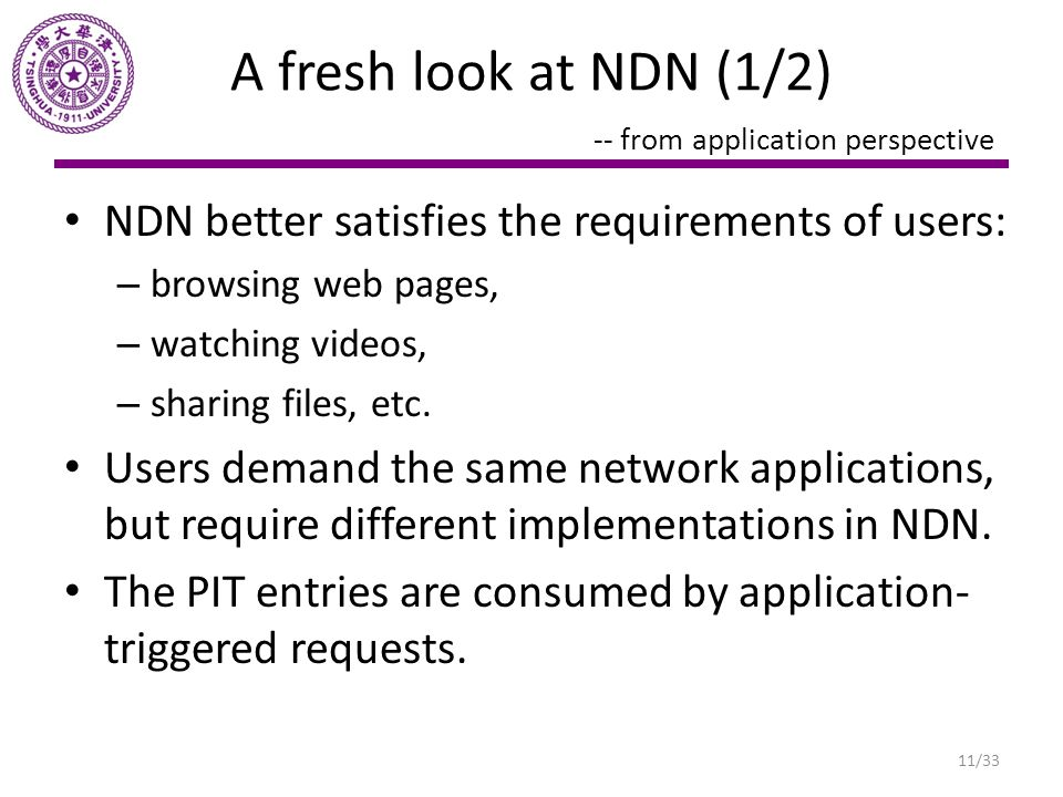 A fresh look at NDN (1/2) -- from application perspective