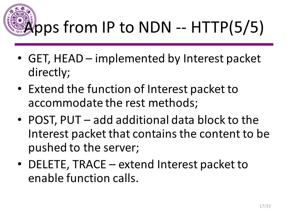 Apps from IP to NDN -- HTTP(5/5)