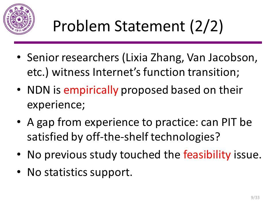Problem Statement (2/2) Senior researchers (Lixia Zhang, Van Jacobson, etc.) witness Internet's function transition;