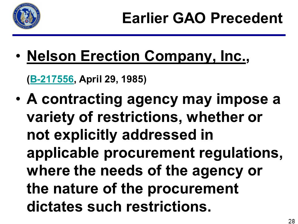 Nelson Erection Company, Inc., (B-217556, April 29, 1985)