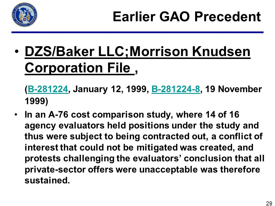 DZS/Baker LLC;Morrison Knudsen Corporation File ,