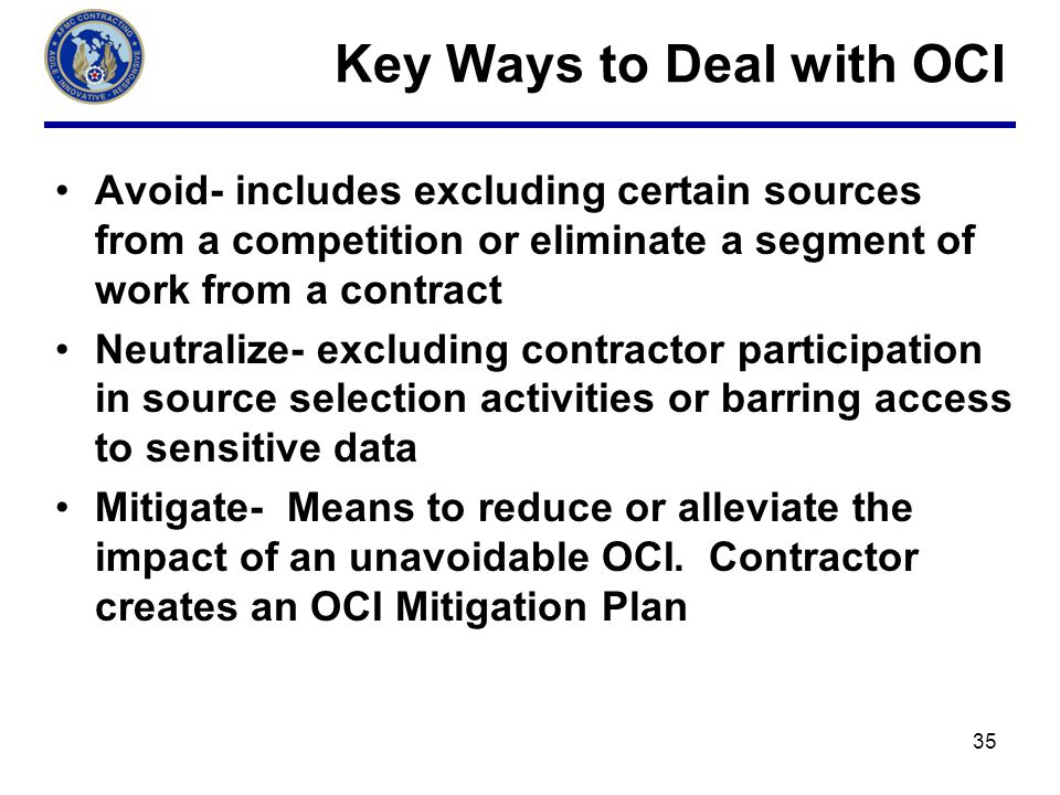 Key Ways to Deal with OCI
