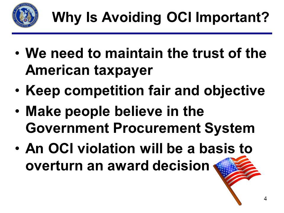 Why Is Avoiding OCI Important