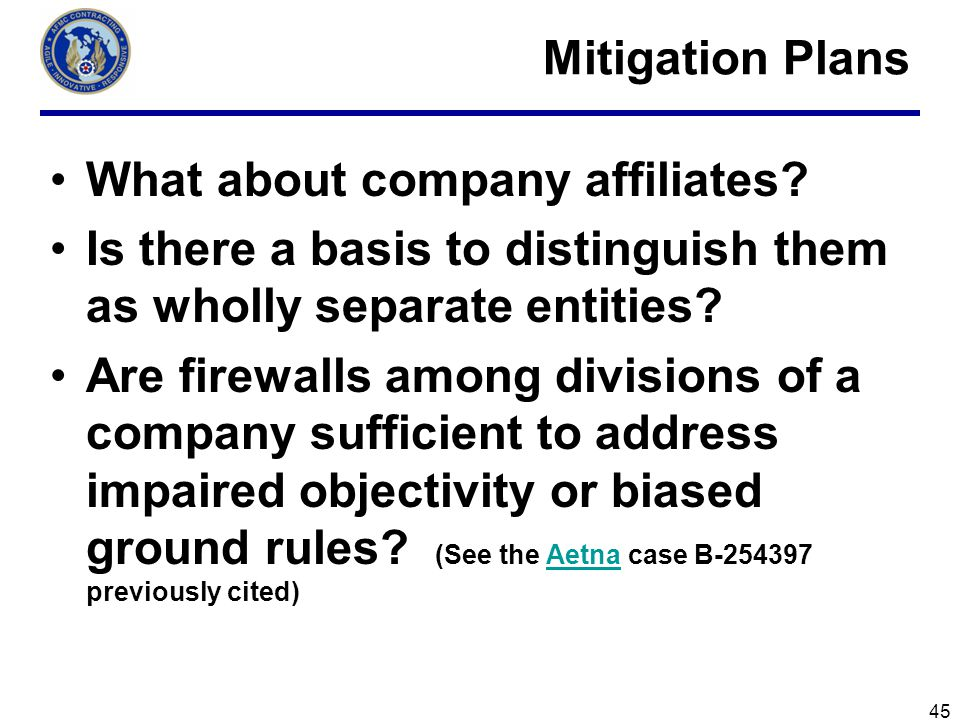What about company affiliates