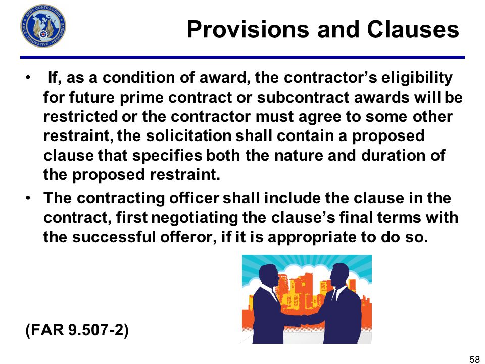 Provisions and Clauses