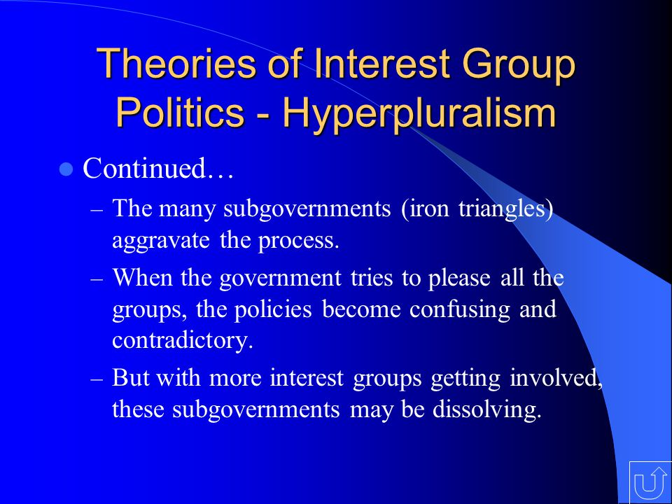 Theories of Interest Group Politics - Hyperpluralism