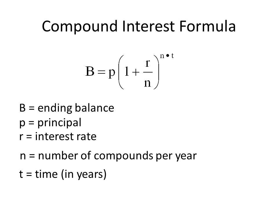 3.5 Compound Interest Formula - ppt video online download