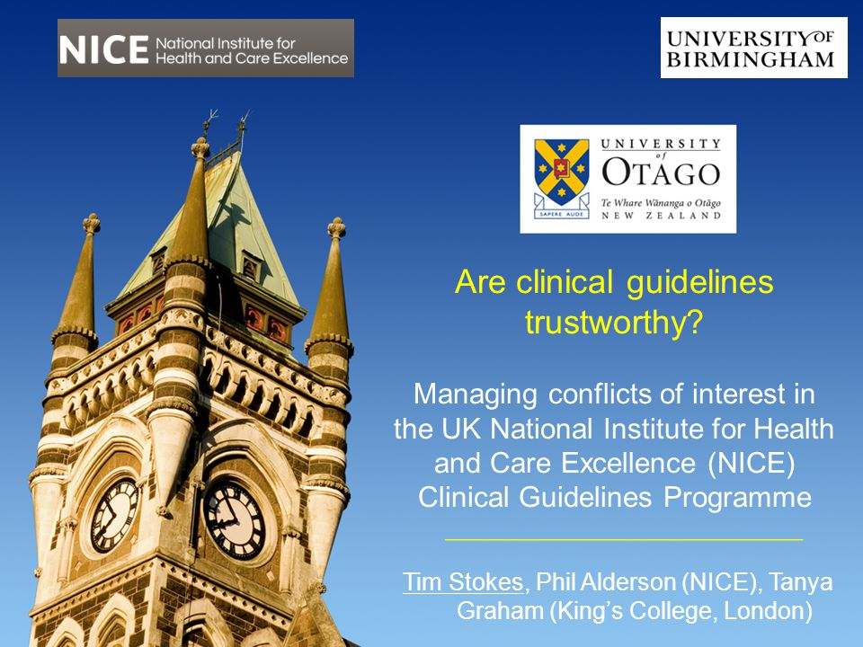 Are clinical guidelines trustworthy