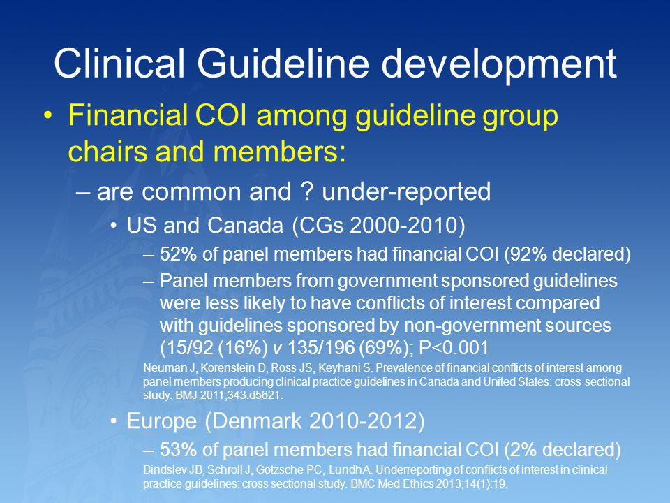 Clinical Guideline development