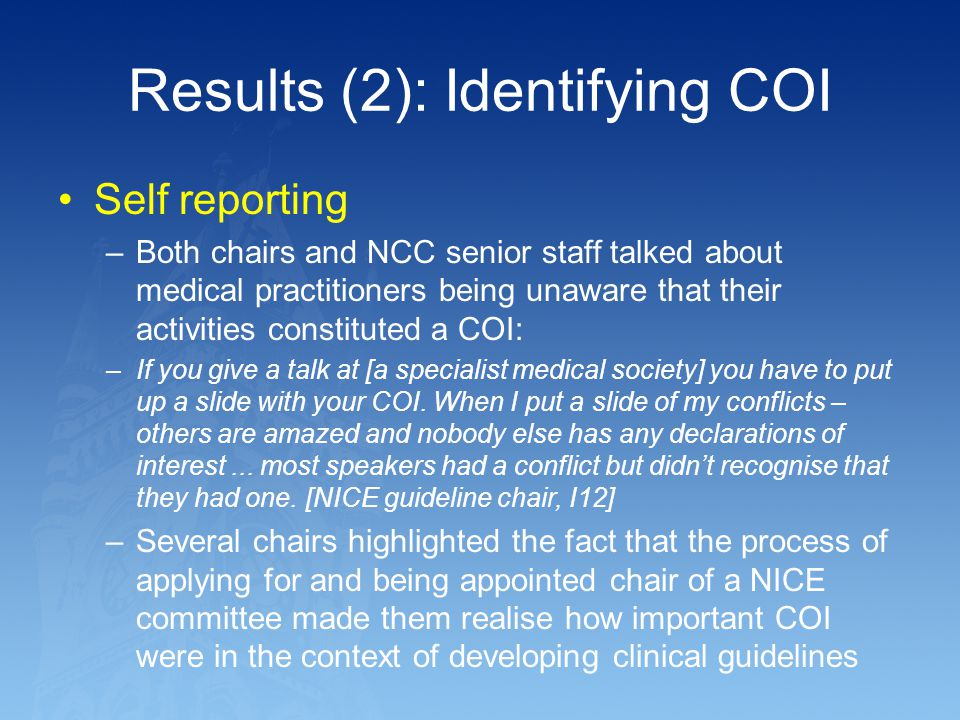 Results (2): Identifying COI