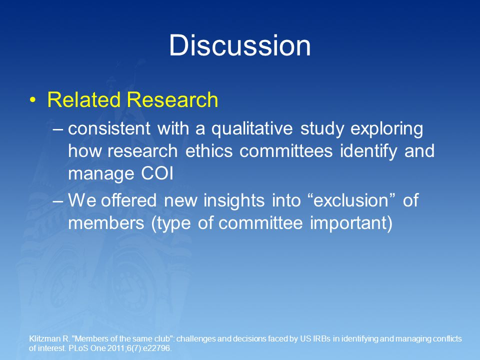 Discussion Related Research