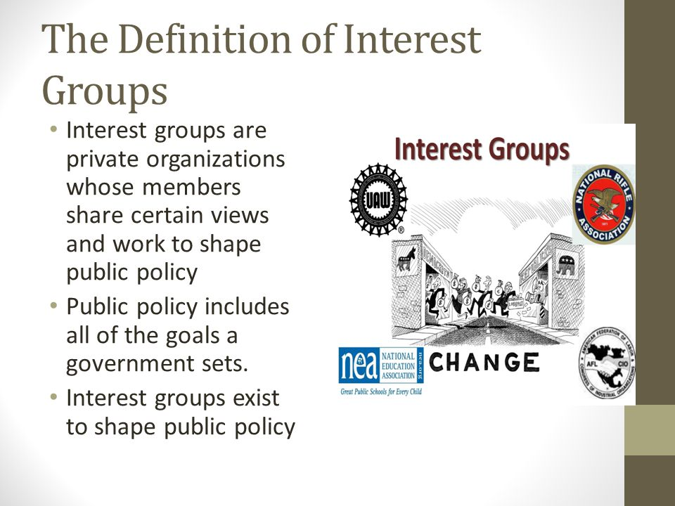 The Definition of Interest Groups