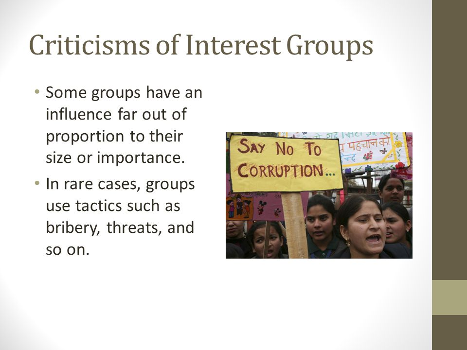 Criticisms of Interest Groups