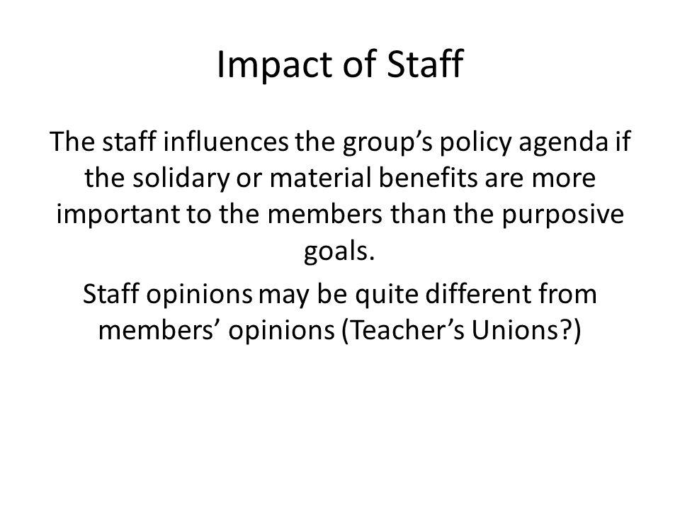 Impact of Staff