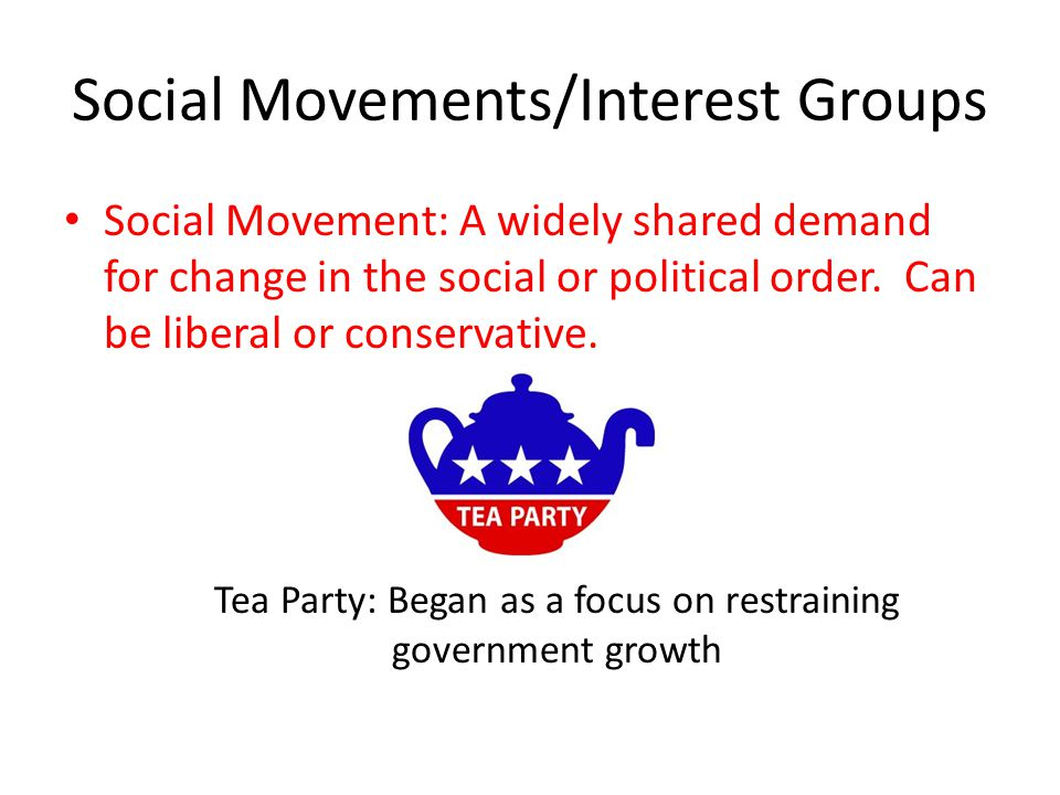 Social Movements/Interest Groups