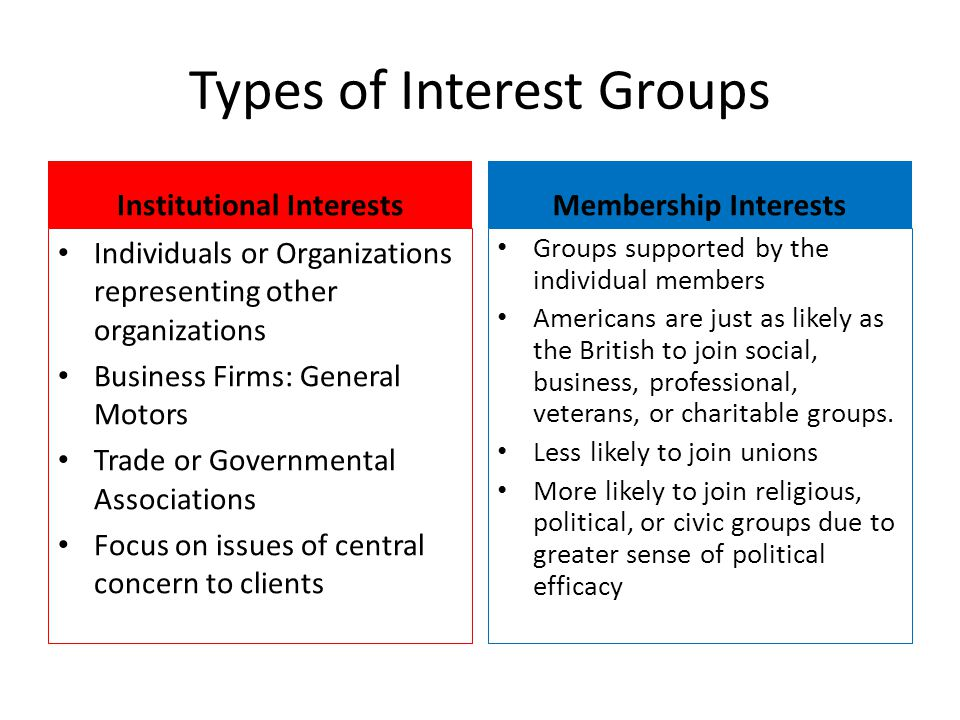 Benefits of Special Interest Groups