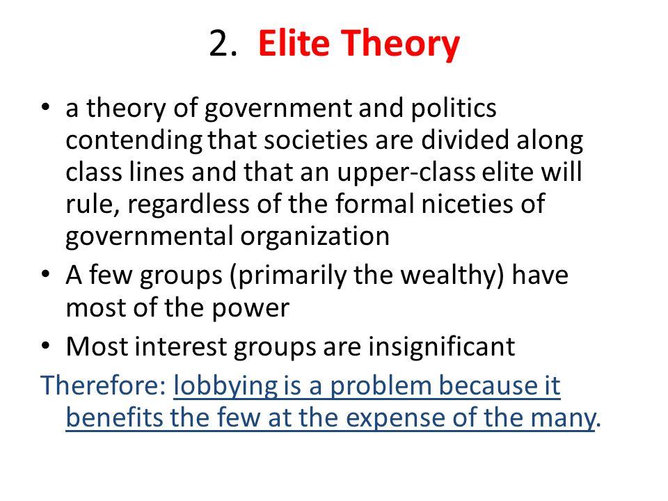 2. Elite Theory