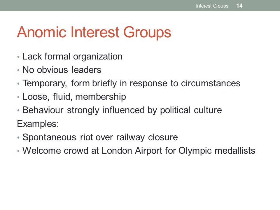 Anomic Interest Groups