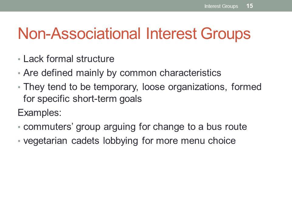 Non-Associational Interest Groups