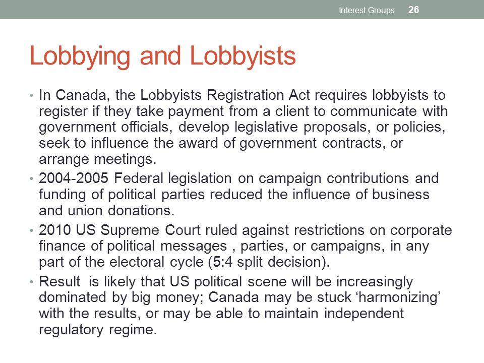 Lobbying and Lobbyists