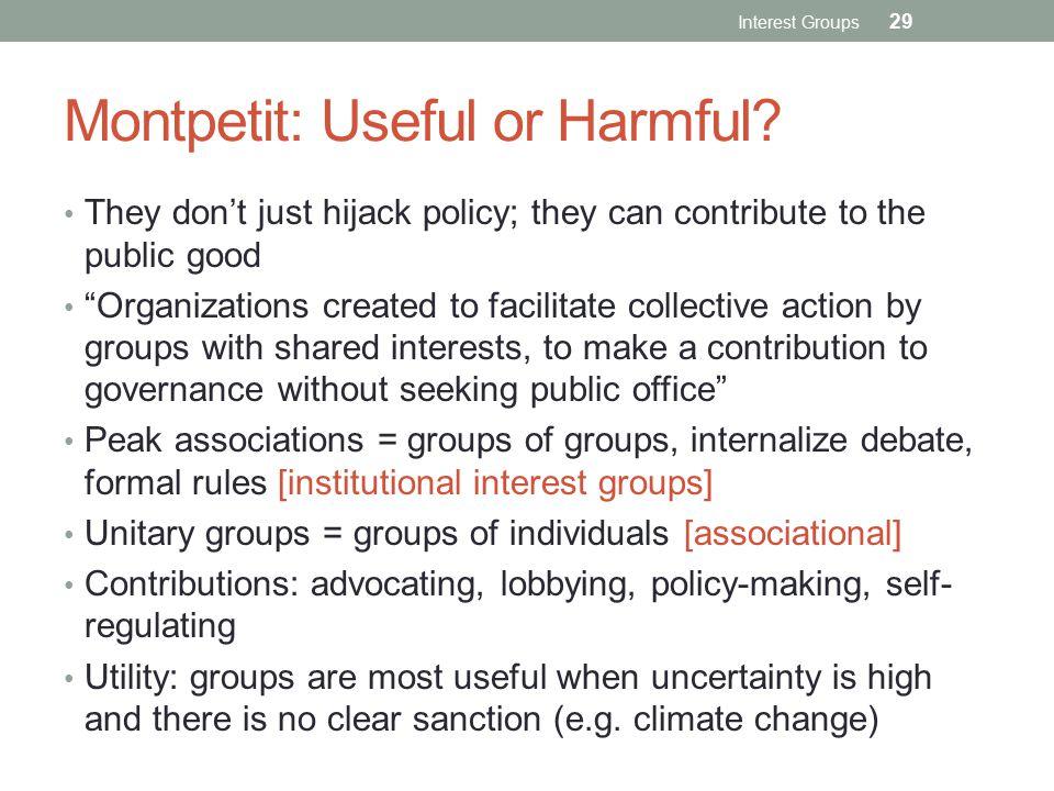 Montpetit: Useful or Harmful