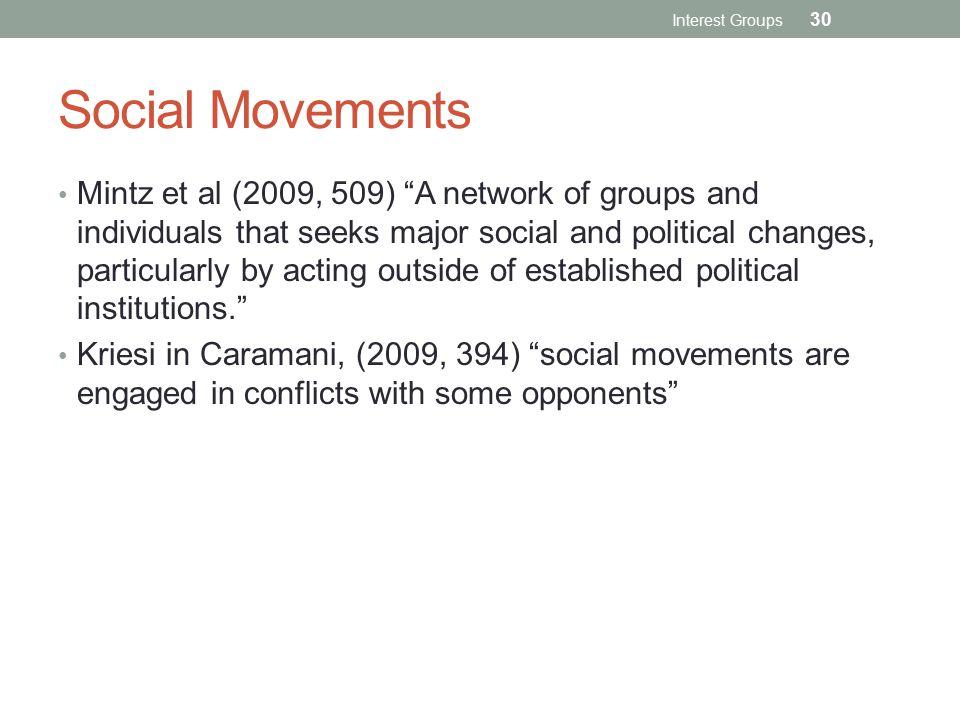 Interest Groups Social Movements.