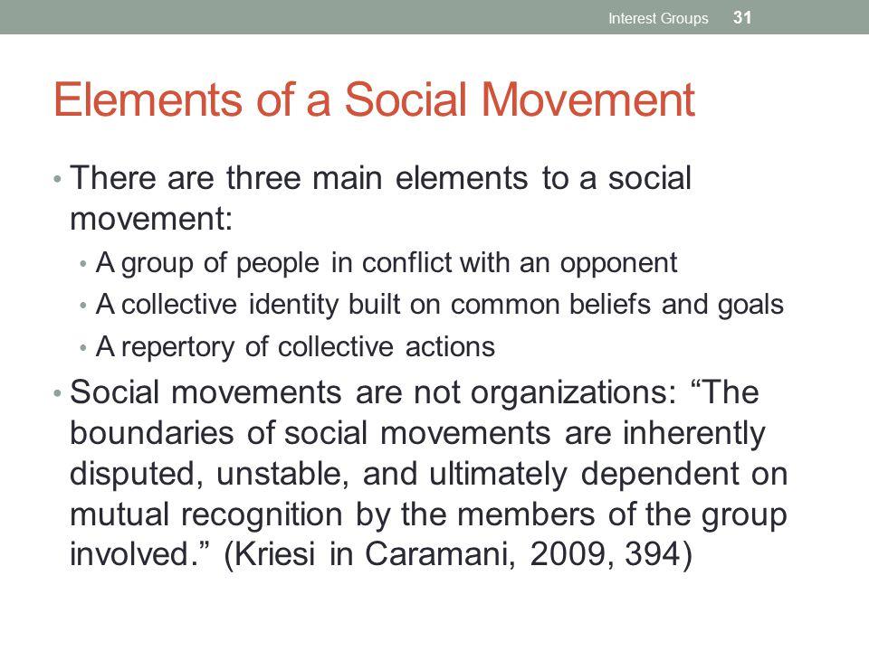 Elements of a Social Movement