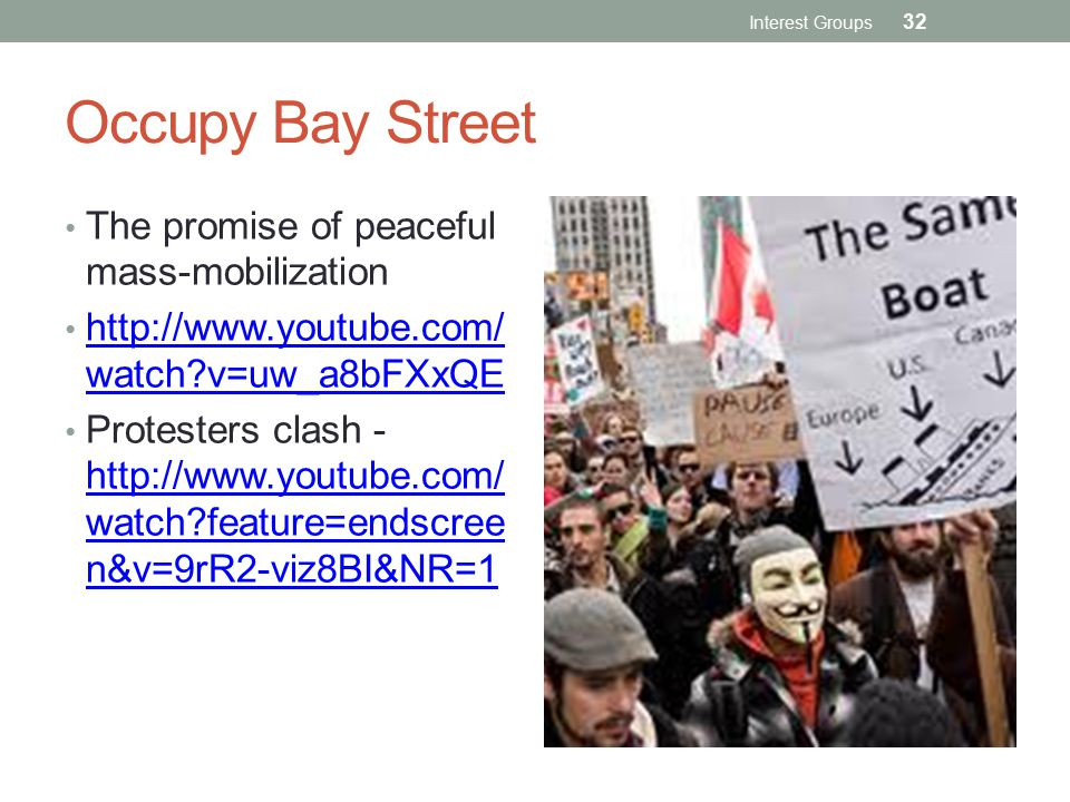 Occupy Bay Street The promise of peaceful mass-mobilization