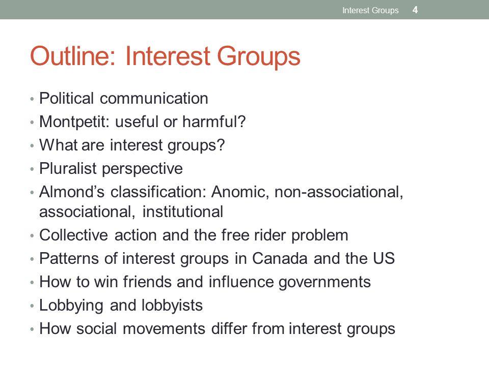 Outline: Interest Groups