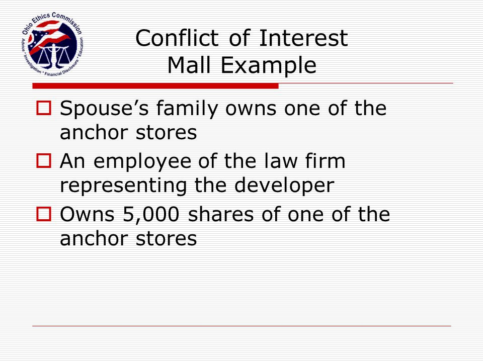 Conflict of Interest Mall Example